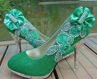 beautiful dress fabrics - Hot beautiful Silver Vogue lace Flowers Crystal High Heels Wedding Bridal Shoes