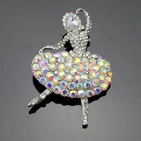 ballet bras - Hot Sale Elegant Fancy Brooch Golden Ballet Dancing Girl Fashion Jewelry Women s Bra Pin Animal Brooches