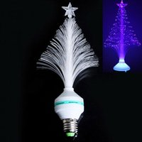 Wholesale 3W E27 LED Fiber Optical Flower Light Stage Light Christmas Tree Lamp V Blue Stagelight For KTV disco Night Club