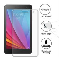Wholesale Qiaogle Anti explosion Tempered Glass Screen Protector Ultra Hard For Huawei MediaPad T1 inch Premium Screen Protector
