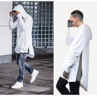 arc jacket - New arrive new nice hip hop hoodies with fleece Fleece jacket arc short after long before hem couples cuff side zipper fleece