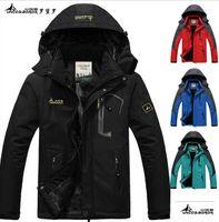 Wholesale 2016 hot Brand Luo Baoluo winter jacket men Plus velvet warm wind parka plus size black hooded Outdoor sport winter coat men
