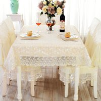 Wholesale Beautiful Embroidery Floral Lace Table Cloth Wedding Party Decoration Lace Chair Cover Moq piece Support Drop shipping