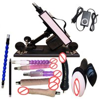 Cheap Luxury Automatic Sex Machine Gun Set with 9 attachments for Men and Women Fucking Machine with Male Masturbation Cup and Big Dildo