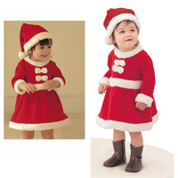 baby santa suits - 2 Styles Santa Claus Costume Baby Christmas Clothing Sets Girl Boys Santa Suit Novelty Costume high quality