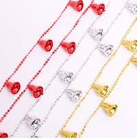 bell decor - Christmas decoration meters cm christmas bells bead chain red gold silver color for christmas tree new year home decor