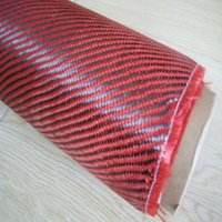 Wholesale RED kevlar and k Carbon Fiber fabric cloth Twill K g m2 for Car Parts Sport Equipments not pvc vinly film