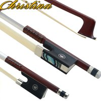 Wholesale Brazil wood pole is pure white horse hair violin bow G01 high grade octagonal ebony fisheye Christina violin bow