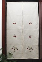 Wholesale Handmade grogram embroidered curtain waffle cloth curtains air curtain