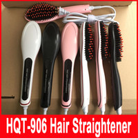 beautiful hair styles - Fast Hair Straightener HQT NASV Beautiful star Styling Tool Flat Iron Comb Brush With LCD Digital Temperature Control US UK AU EU Plug
