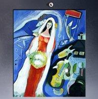 La Mariee by marc chagall, Высокое качество Подлинная Handpainted Home Decor Декор Абстракционизм Картина маслом на холсте подгонять размер