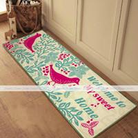 beige bath mat - yazi Beige Bird Flower Plush Welcome Doormat Floor Mat Home Kitchen Bath Carpet Rug x115cm