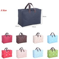 ags blue - ags and handbags New Arrival Portable Man Woman Travel Duffle Dot Flowers Pup Pattern Large Waterproof Bags Organizer Handbag Travelling