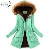 Wholesale Cashmere Hoodies For Women - Promotions 2016 Fashion Autumn Warm Winter Fur Collar Coats Jackets for Women Women's Long Parka Plus Size Parka Hoodies