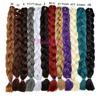 Wholesale Xpression Synthetic Braiding Hair Cheap inch grams Single Color Premium Ultra Braid Kanekalon Jumbo Braid Hair Extensions