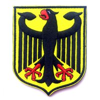 Wholesale 2016 Germany Coat of Arms Patch German Eagle Shield Embroidered Badge Tactical US Army Morale Patch