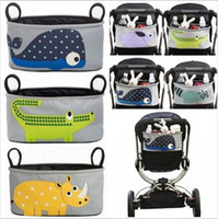 Wholesale 2016 Baby strollers Accessories stroller bag Carriage Cart Bottle Diaper Bag Polyester Newborn Nappy Cartoon waterproof pouch