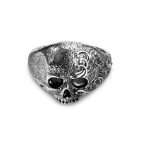 mens sterling silver rings - Mens Rings Unique Skull Ring Hotselling Fashion Rings Jewelry Thai Sterling Silver Rings for men