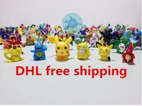action typing games - Poke Action Figures Monster Toys for Child cm Doll Little Figurine Toy Poke Game Small Classic Pikachu type DHL Factory