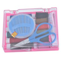 Wholesale 1Set Sewing Kit Box Needle Thread Scissor Sewing Tools Handcraft DIY Portable
