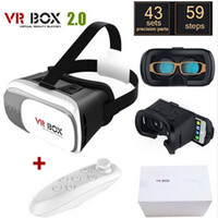 Wholesale Original Google Cardboard VR BOX II VR Virtual Reality D Glasses For quot quot Smartphone Wireless Bluetooth Gamepad