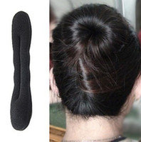Wholesale 60pcs Fashion Magic Tools Foam Sponge Device Quick Messy Donut Bun Hairstyle Girl Women Hair Bows Band Accessories Silk Headband