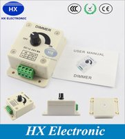 Wholesale Manual Dimmer Switch V V A W Single Color Knob LED Dimmer Controller for White LED Strip Lights Mountab