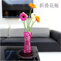 Wholesale DIY flower MIX Size folding PVC foldable small opp bag eco friendly vase jk17