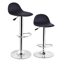 Wholesale Set of Swivel Modern Adjustable Height Diner Seat Chairs Black Bar Stools