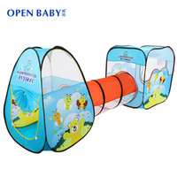 best pool games - New Arrive Child Tunnel Game House Large Baby Kids Crawling Ocean Ball Pit Pool Blue Red Best Quality Play Toy Tent
