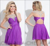 Cheap Rachel Allan 2016 New Homecoming Dresses Beading Crystal See Though Corset Short Sleeve Sexy Open Back Graduation Dress Short Prom Dress