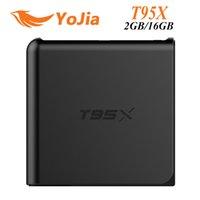 Wholesale 12pcs Genuine T95X TV Box Amlogic S905X Quad Core Android G G G G M LAN H KODI