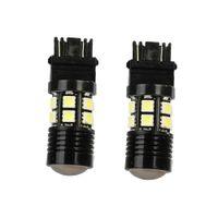 Wholesale 10Pcs LED Car Light Bulb Backup Reverse Projector Smd V White Chips LED Bulb Stop Tail Brake Parking Light Universal LED Lamp