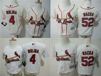 baby cardinals - MLB jerseys St Louis Cardinals Baby jersey Toddler s Baseball jerseys MOLINA WACHA white cream freeshipping