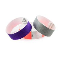 Wholesale 5000pcs without logo bulk cheap tyvek wristbands bulk paper wristbands for events best selling paper wristbands