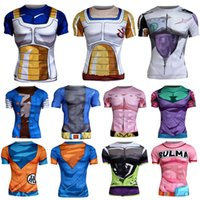 Wholesale Popular Cartoon Dragonball Tights Finess Wear Womens Yoga Clothes Tops Quick Dry Tshirts High Quality Cheap Cycling Jerseys