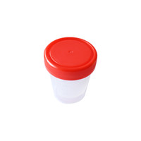 Wholesale 100pcs cas Plastic Urine Container Cup Red Blue cap lm EO Steriled with individal package