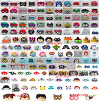 Wholesale 150 Styles Super hero Cartoon Mask Eye Shade for Children Pikachu Poke TMNT mask Halloween Mask for Children Halloween costume