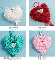 Wholesale 26cm cm cm New Arrivals Elegant Rose Wedding Favors Heart Shaped Design Gift Ring Box Pillow Cushion