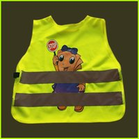 Wholesale 200pcs Children Brightness Reflective Vest Lovely Cartoon Safety Vest Students Traffic Safety Clothing Breathable Kids Waistcoats