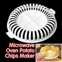 Wholesale DIY Low Calories Microwave Oven Fat Free Potato Chips Maker Home New Kitchen Accessories Supplies E5M1