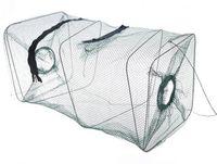Los nuevos trampas del camarón de la trampa de la red de pesca de la red de pesca de la jaula de la red de la mordedura de la trampa del cebo de pesca de los nuevos del cangrejo de Crawdad de los pescados del cangrejo liberan el envío # 62