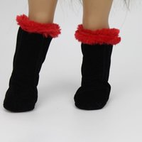 american doll shoes - Black Winter Warm Shoes Boots Doll Clothes for quot American Girl Doll Faux Suede Our Generation Dolls Accessories