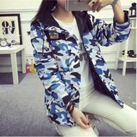 Acheter Coton ouaté korean veste de baseball-Nouvelle version coréenne de la longue manteau Hoodies de veste coupe-vent de vêtements de baseball à capuche automne BF quelques vestes à rayures lettres de camouflage