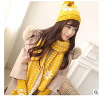 Wholesale 2016 new winter Hats Scarves Gloves Sets snow reindeer girls warm hat scarves gloves three piece suits set new DHL freeship