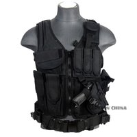 Wholesale Black tan green woodland acu Military Tactical Vest Paintball Army Gear Black MOLLE Carrier Airsoft Combat Tactical Vest