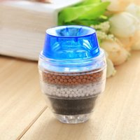Wholesale New Home Water Purified Double Purifier Filter Head Anion Bamboo Charcoal Penetration Tool Hot Good Quality