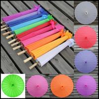 bamboo umbrella frames - Chinese Wedding Umbrellas Silk Umbrella Bamboo Frame Artificial Silk Dance Umbrella Colors Wedding Favors