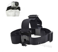 Wholesale Gopro Adjustable Elastic Head Strap Mount Belt Headband for GoPro Hero Gopro Accessories Color Black