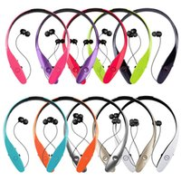 Wholesale New Bluetooth Headset for iPhone Samsung LG Tone HBS HBS Wireless Mobile Earphone Bluetooth Headset headphones for Mobile Phone